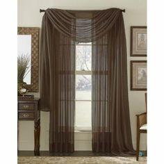 Amazoncom 84 Long Sheer Curtain Panel Slate Dusty Blue