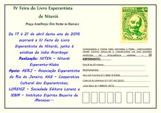 IV Feira do Livro Esperantista de Niterói - RJ - http://www.agendaespiritabrasil.com.br/2016/04/11/iv-feira-do-livro-esperantista-de-niteroi-rj/
