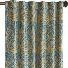 Our Alexis curtain is embroidered in Art Deco style with a golden touch—fit for someone with an empress's taste. Luckily, you don't have to be royalty to appreciate this curtain. Its rod-pocket construction makes it easy to hang. Plus, it's machine washable so it's easy care.