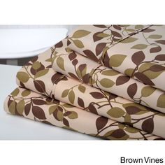 Bibb Home Brushed Printed Microfiber 6-piece Sheet Set | Overstock.com Shopping - The Best Deals on Sheets