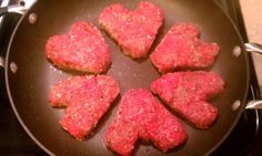 My husband made heart shaped bacon cheeseburgers for Valentine's Day dinner!