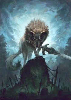 Dark Souls 3, Arte Dark Souls, Fantasy Wolf, Dark Fantasy Art, Fantasy Artwork, Soul Saga, Bloodborne Art, Dark Art Tattoo, Tattoo Art