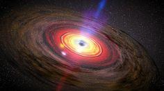 Observan unas misteriosas luces borrosas cerca de un gran agujero negro