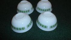 4 Vintage Pyrex Green Darby 770 Rice Bowls | eBay