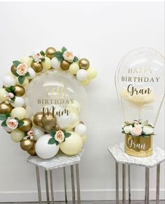 1st Birthday Party For Girls, 60th Birthday, Happy Birthday, Balloon Stands, Balloon Arch, Ballon Decorations, Balloon Gift, Flower Bouquet Wedding, Diy Gifts