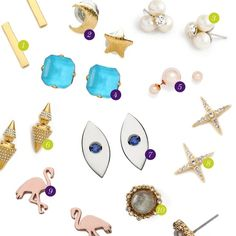 Rank & Style | Top Ten Fashion and Beauty Lists - Summer Stud Earrings #rankandstyle