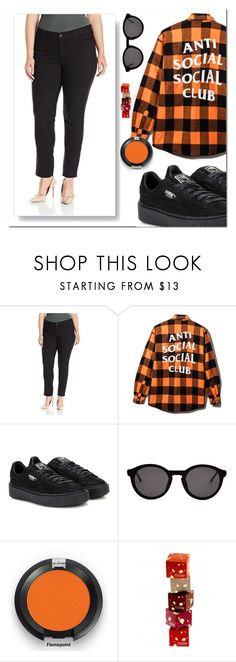 """Plussizeforless"" by plussizeforless ❤ liked on Polyvore featuring Puma and Thierry Lasry"