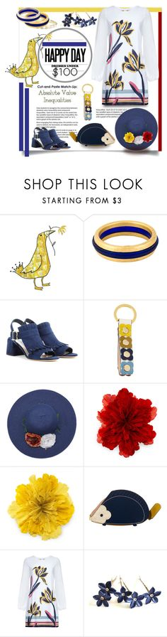 """""""Dresses Under $100"""" by affton ❤ liked on Polyvore featuring Claude Montana, Prada, Orla Kiely, Gucci, floralprint, hedgehog, strawhat and under100"""