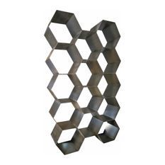 This honeycomb influenced bookshelf revels in a playful design that adds humor and space to your interior. Made from metal with plenty of storage in its hexagonal shelves. Metal Bookcase, Metal Working Tools, Wood Working, Industrial Metal, Industrial Style, Bee Theme, Hexagon Shape, Bees Knees, Metal Furniture