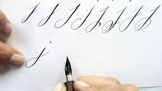 Modern Calligraphy Letter J