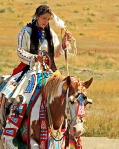 Indian woman an her horse