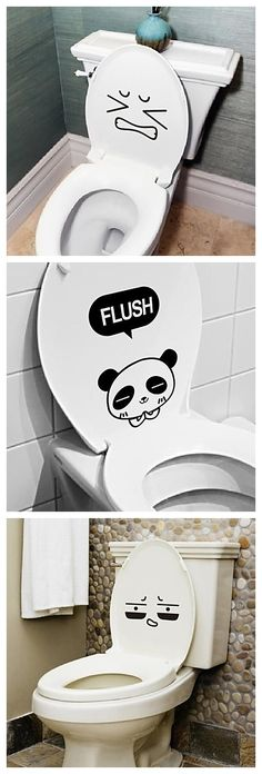 Cute toilet stickers to make your bathroom more fun! Click and see more!