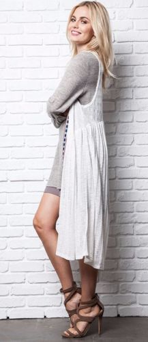 Umgee-Sleeveless-knit-Duster-long-Bohemian-Boho-Hippie-Gypsy-Ivory-A9926 #UNIQUE_WOMENS_FASHION