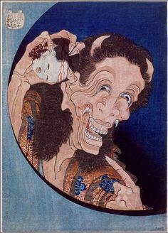 Démon riant - Hokusai Katsushika - 1831