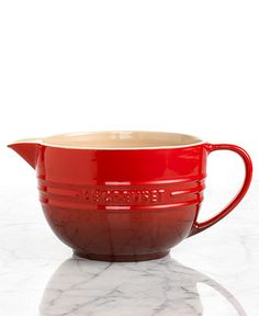 Le Creuset Enameled Stoneware Batter Bowl - Bowls, Colanders & Strainers - Kitchen - Macy's  LIFE CHANGING