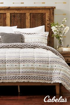 Outdoor-inspired bedding decor for every outdoorswoman.