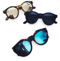 We are loving the Illesteva sunglasses.