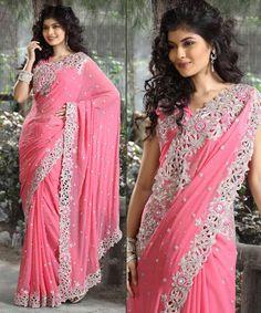 Cut work bridal sarees... So in ! This wedding season dis is a must !