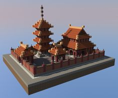 A Buddhist Temple Minecraft Within China Tempel - amuda. Minecraft Kingdom, Minecraft Castle, Minecraft Plans, Minecraft Games, Minecraft Tutorial, Minecraft Blueprints, Minecraft Creations, Minecraft Designs, Minecraft Houses