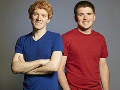 Stripe co-founders Patrick (l) and John Collison