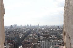View of Barcelona from the top of La Sagrada Familia   Excursions in Barcelona Excursions in Barcelona Holidays in Barcelona Sightseeing tours, airport transfers, taxi, interpreter and your personal guide in Bar