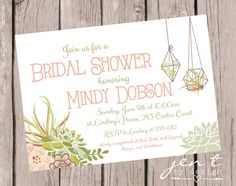 These Succulent Bridal Shower Invitations are a beautiful way to honor any bride-to-be!  In fact, with this pretty design, these invites are a nice