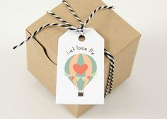 Printable tags INSTANT DOWNLOAD  Let love fly  Thank by ByYolanda
