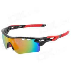 CARSHIRO T9559-6 Sporty UV400 Polarized Goggles   Replacement Lenses for Cycling