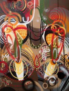 RekaOne - South Side Cool Artwork, Amazing Artwork, Street Artists, Art Blog, Art Decor, Graffiti, Art Pieces, Vibrant, Make It Yourself
