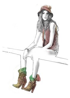 Alex Tang Illustrations fashion illustration