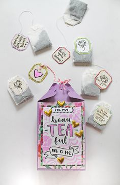 Mother's day is coming up! Make you mom a handmade Mother's Day Tea Gift Bag using this tutorial by Katie Smith on the Tombow USA Mothers Day Canvas Mothers Day Gifts Mothers Day Wood Mothers Day Gifts From Daughter Diy, Cute Mothers Day Gifts, Homemade Mothers Day Gifts, Mother Birthday Gifts, Diy Gifts For Kids, Mothers Day Crafts For Kids, Homemade Gifts, Diy Birthday, Diy Mother's Day Crafts