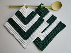 Crochet Potholders, Pot Holders, Crochet Patterns, Deco, Sewing, Knitting, Etsy, Handmade, Google