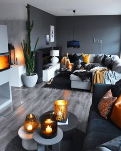 57 grey small living room apartment designs to look amazing 24 solnet-sy 57 grey small living room apartment designs to look amazing 24 solnet-sy Sascha B de saschabaede Interior 57 Grey nbsp hellip Living Room designs Living Room Orange, Living Room Grey, Small Living Rooms, Home Living Room, Apartment Living, Living Room Decor Yellow Walls, Autumn Decor Living Room, Living Room Warm Colors, Modern Small Living Room