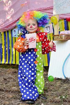 child Clown Costume Kids clown por MyPurplePrincessShop en Etsy