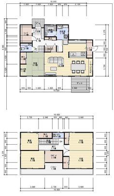 間取り シュミレーション 40坪シューズクローク、パントリー、書斎のある住宅の間取り