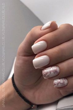 Nail Art Design Ideas With Pretty & Creative Details : Pink nails with marble effect
