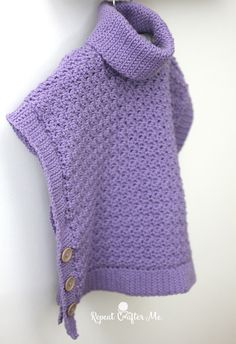 Yarnspirations Crochet Poncho For You and Me and Giveaway! - Repeat Crafter Me... FREE PATTERN!