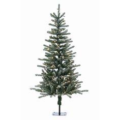 Flocked Bridgeport Pine Pre-Lit Full Christmas Tree by Sterling Tree Company | from hayneedle.com
