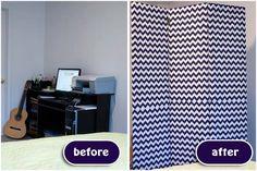 DIY Fabric Screen