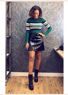 Press Tour, Leather Skirt, Mini Skirts, Fashion, Moda, Leather Skirts, Fashion Styles, Mini Skirt, Fashion Illustrations