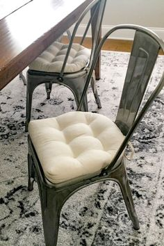 """We bought six of these for our dining room. Exactly what we were looking for and can't say enough about the quality of these."" -Michael B. Latex, Industrial Chair, Chair Cushions, American Made, Farmhouse Decor, Dining Room, Cotton, Stuff To Buy, Photos"