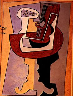 Man with mandolin - Pablo Picasso