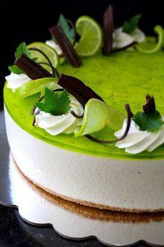 Kakkuviikarin vispailuja!: Sitruuna-limejuustokakku No Bake Desserts, Delicious Desserts, Dessert Recipes, Easy Cake Decorating, Just Eat It, Sweet Pastries, My Best Recipe, Pastry Cake, Cheesecake Recipes