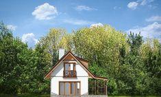 Projekt domu Szarejka – 63.63 m2 - koszt budowy 65 tys. zł Places To Visit, Cabin, House Styles, Home Decor, Decoration Home, Room Decor, Cabins, Cottage, Home Interior Design
