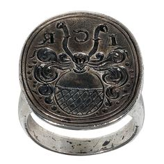 So cool. i love pieces with history. literally. 1stdibs - An antique silver merchants ring explore items from 1,700  global dealers at 1stdibs.com