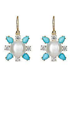 Mixed-Gemstone Drop Earrings
