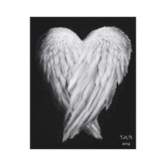 by UK Artist TMH Angel love heart shaped wings for protection and guidance - on a black background Size: x Gender: unisex. Angel Wings Tattoo On Back, Angel Wings Drawing, Angel Wings Painting, Angel Wings Wall Art, Diy Angel Wings, Angel Art, White Angel Wings, Feather Angel Wings, Angle Wing Tattoos