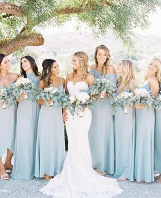 Silver Sage Bridesmaid Dresses blue bridesmaid dress for pretty wedding bridesmaids photos Buy directly from the world's most awesome indie brands. Or open a free online store. Perfect Wedding, Dream Wedding, Summer Wedding, Sage Bridesmaid Dresses, Beach Wedding Bridesmaids, Prom Dresses, Bridesmaid Dresses Different Colors, Tiffany Blue Bridesmaids, Mint Green Bridesmaids