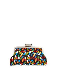 Pop Pill bead-embellished push-clasp clutch by Sarah's Bag