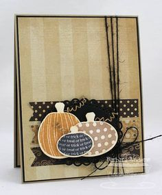Krafty Halloween - C4C #154 by Bar - Cards and Paper Crafts at Splitcoaststampers